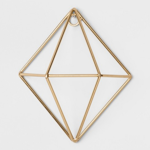"""Diamond Decorative Wall Sculpture Gold (5""""x6"""") - Project 62™ - image 1 of 1"""