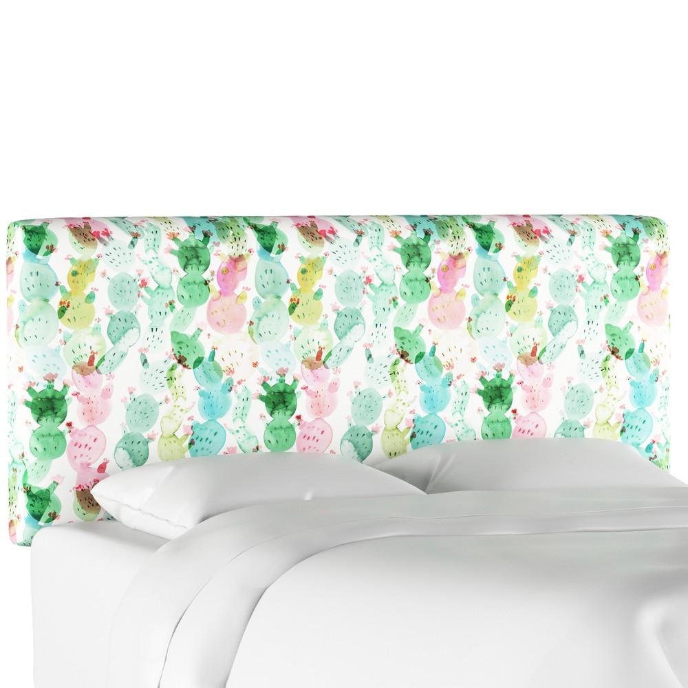 Upholstered Headboard - Cactus Love Multi - Queen - Designlovefest
