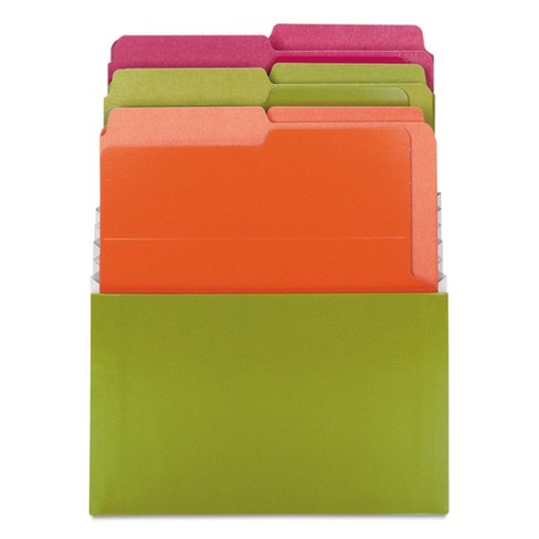 Smead Organized Up Vertical Stadium Files With Six File Folderss, 3 Pockets, Letter, Peridot - image 1 of 3