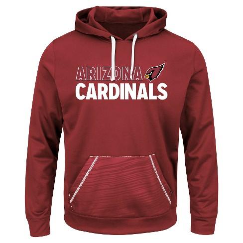 3bd12f7a Arizona Cardinals Men's Performance Pullover Fleece Hoodie Sweatshirt L