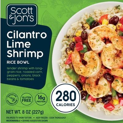 Scott & Jon's Cilantro Lime Shrimp Frozen Rice Bowl - 8oz