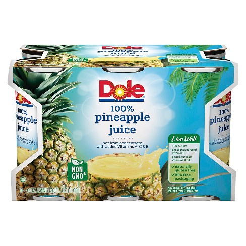 Dole Pineapple - 6pk/6 fl oz Cans - image 1 of 3