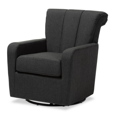 Awe Inspiring Rayner Fabric Upholstered Swivel Chair Gray Baxton Studio Caraccident5 Cool Chair Designs And Ideas Caraccident5Info