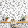 """RoomMates 28.2"""" Fracture P&S Wallpaper Black/White - image 3 of 4"""