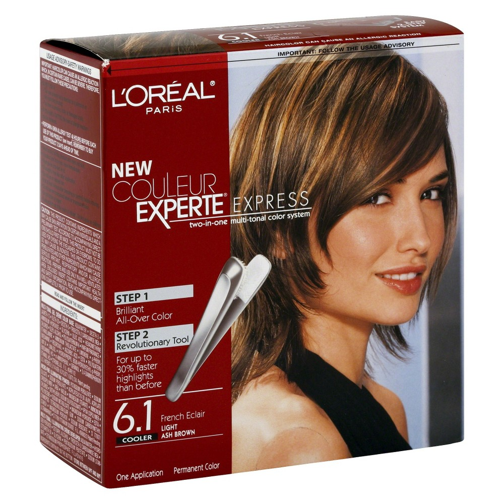 L'Oreal Paris Couleur Experte All Over Color and Highlights - 6.1 Light Ash Brown - 1 Kit