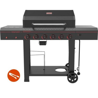 Megamaster 6-Burner Gas Grill with Stainless Steel Tong 720-0983TG