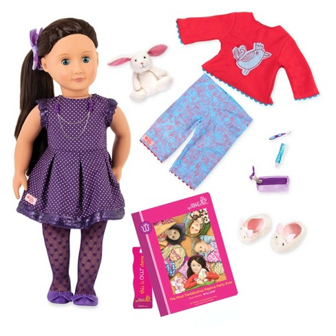 """Our Generation Deluxe 18"""" Sleepover Doll - Willow - image 1 of 4"""