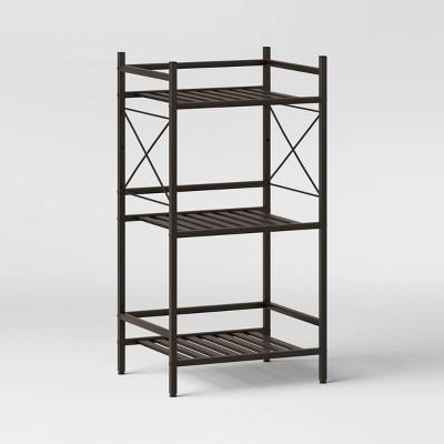 3-Tier Square Tube Decorative Storage Cabinets Bronze - Threshold™