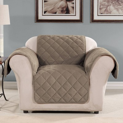 Suede Microfiber Chair Furniture Protector Cover - Sure Fit