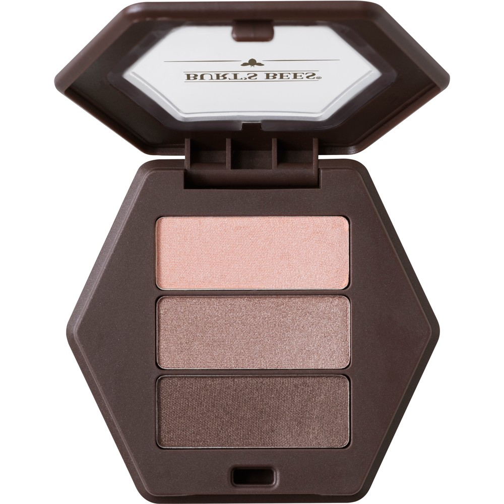Image of Burt's Bees 100% Natural Eye Shadow Palette with 3 Shades - Shimmering Nudes - 0.12oz