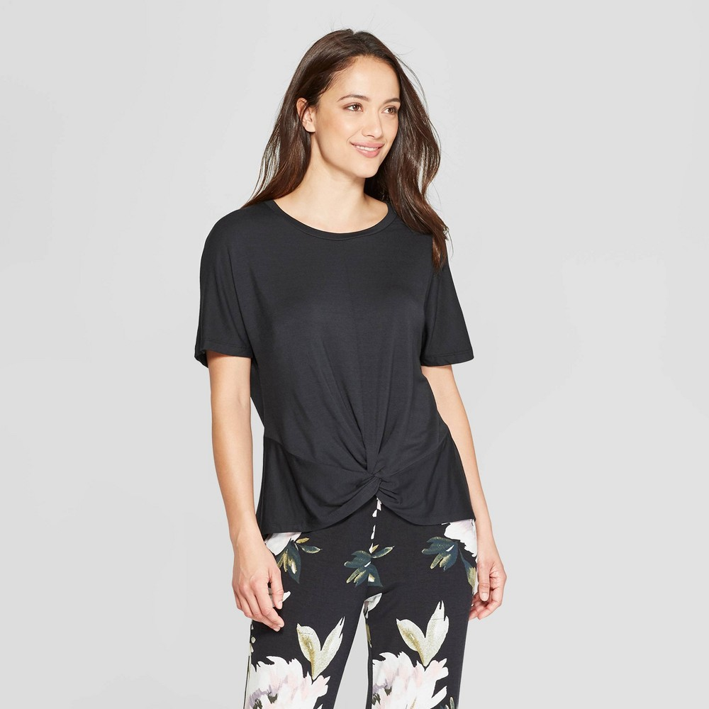 Women's Beautifully Soft Sleep T-Shirt - Stars Above Black M