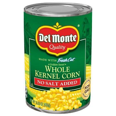 Del Monte Fresh Cut No Salt Added Golden Sweet Whole Kernel Corn 15.25oz