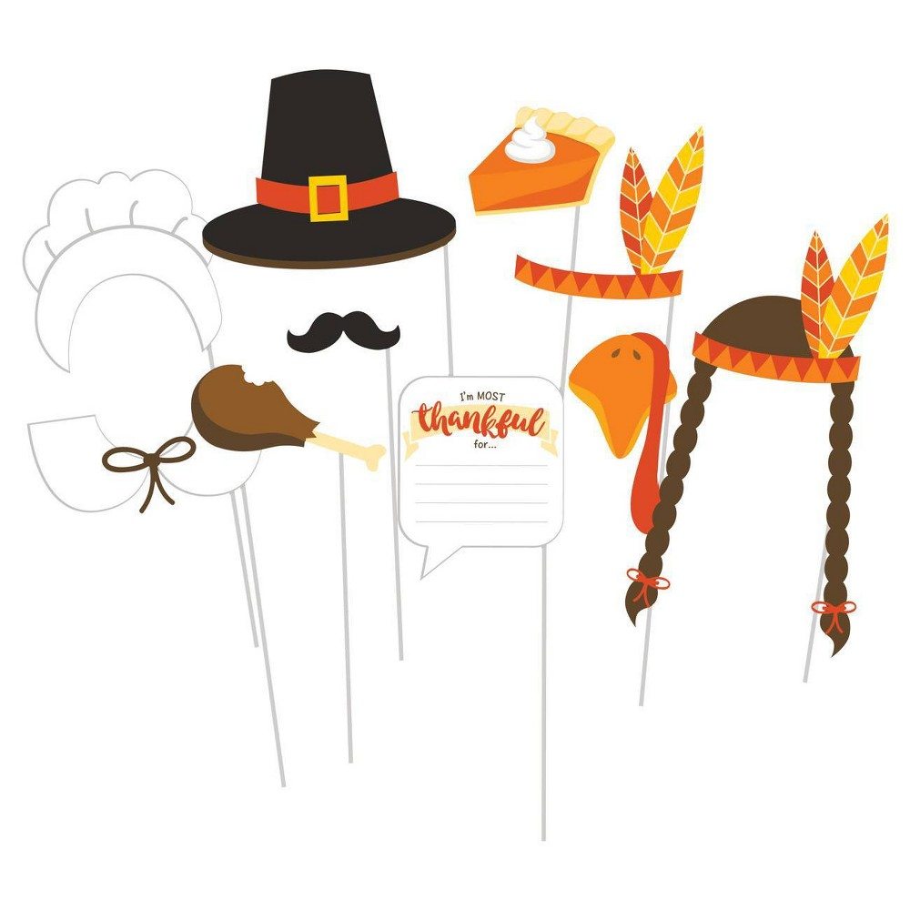 Image of 10ct Thanksgiving Photo Booth Props