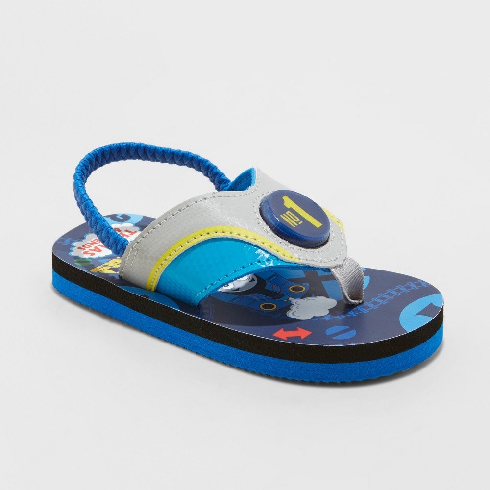 Toddler Boys' Thomas & Friends Flip Flop Light-Up Sandals - Blue S (5-6)