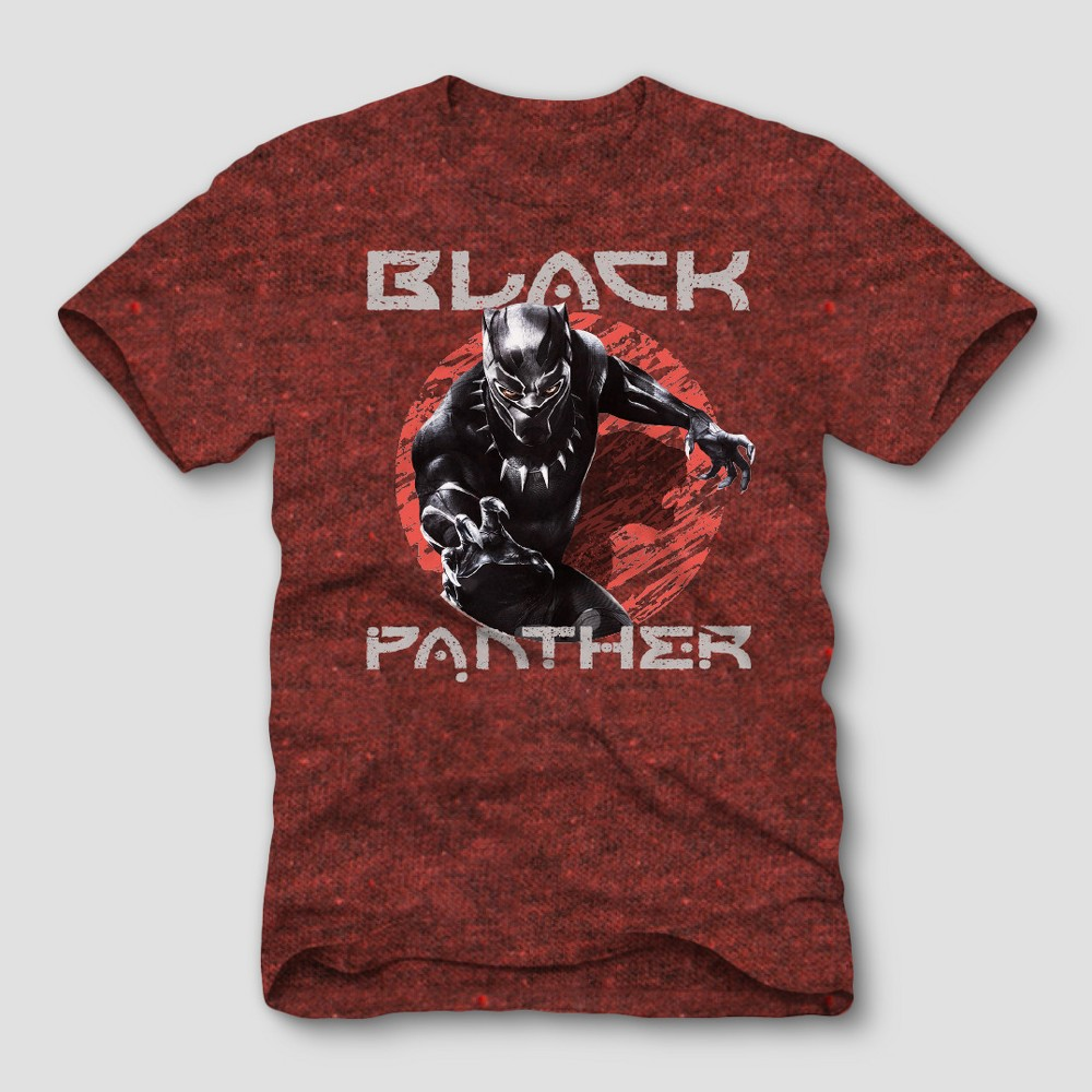 Men's Marvel Black Panther Short Sleeve Comic Graphic T-Shirt - Cardinal, Size: Small, Red