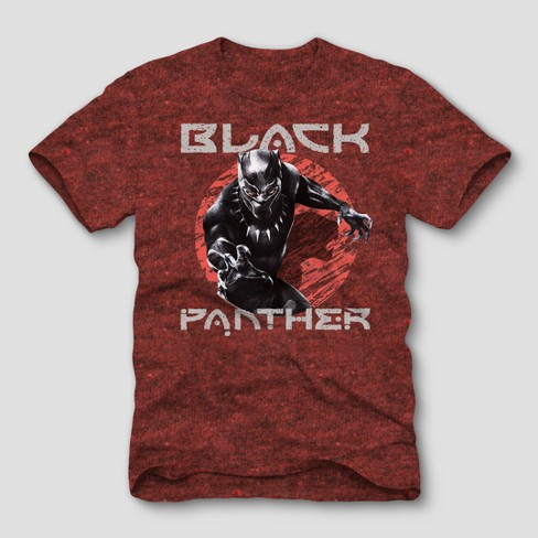 Men's Marvel Black Panther Short Sleeve Comic Graphic T-Shirt - Cardinal - image 1 of 1