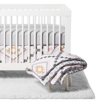 Sweet Jojo Designs 11 pc Crib Bedding Set - Aztec - Gray