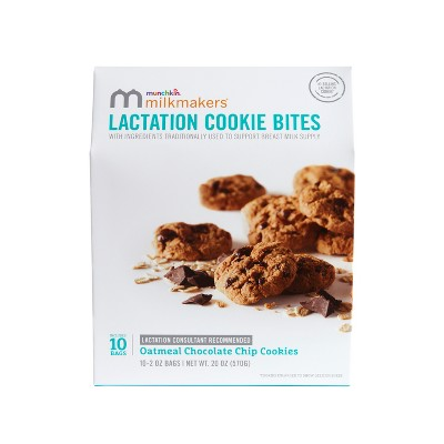Munchkin Milkmakers Lactation Cookie Bites - Oatmeal Chocolate Chip - 10ct