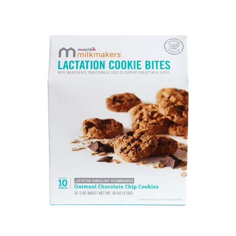 Munchkin Milkmakers Lactation Cookie Bites - Oatmeal Chocolate Chip - 10ct - image 1 of 4