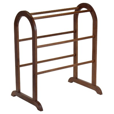 Eleanor Quilt Rack - Antique Walnut - Winsome