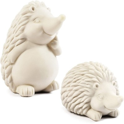 Bright Creations 2 Pack Paint Your Own Hedgehog Figurine, DIY Cute Animal Toys for Kids Art & Craft Supplies, Party Favor, 3.5 x 4.75 inches