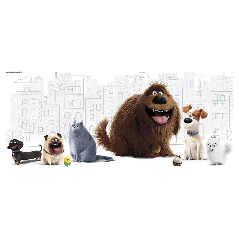 The Secret Life of Pets Giant Wall Graphic, Multi-Colored