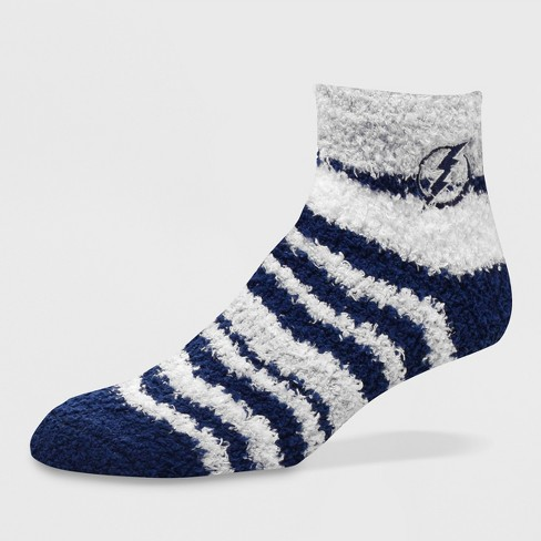 NHL Tampa Bay Lightning Fuzzy Fan Socks - M - image 1 of 1