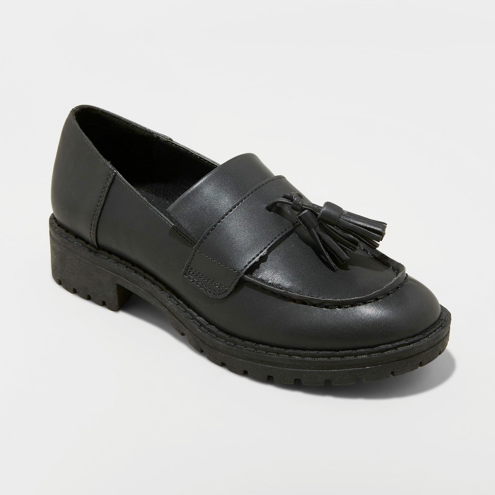 Women's Mallory Tassel Loafers - Wild Fable Black 7.5