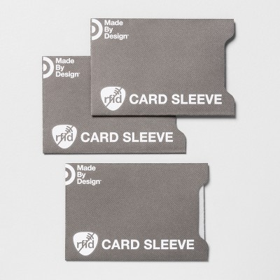 RFID Wallet Card Sleeves - 3pk - Made By Design™