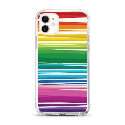 OTM Essentials Apple iPhone 11 Clear Case - Rainbow Stripes