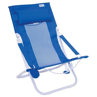 Rio Gear ABHC101-14-1 Outdoor Portable Compact Fold Breeze Hammock Beach Ventilation Chair w/ Foam Pillow, Built In Cup Holder, and Carry Strap, Blue