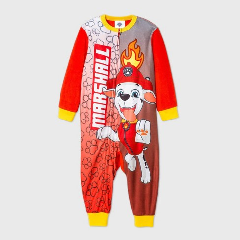 Toddler Boys' PAW Patrol Blanket Sleeper Pajama Jumpsuit - Red - image 1 of 1
