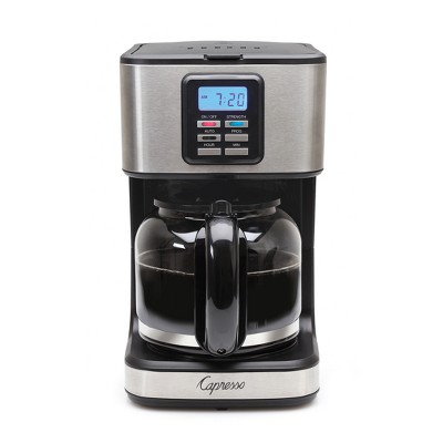 Capresso 12-Cup Compact Coffee Maker SG220 – Black/Stainless Steel 427.05