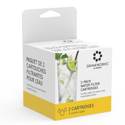 Drinkworks Water Filter Cartridges Compatible with Drinkworks Home Bar - 2ct - image 1 of 1