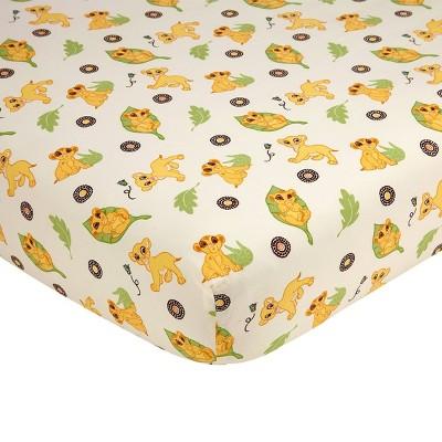 Disney Lion King Simba's Wild Adventure Cotton Fitted Crib Sheet