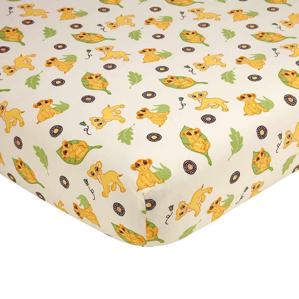Image of Disney Lion King Simba's Wild Adventure Cotton Fitted Crib Sheet