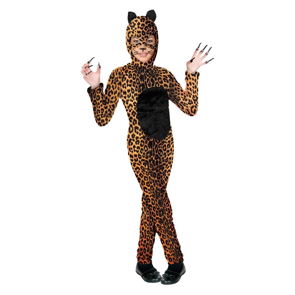 Image of Halloween Girls' Cheetah Cat Halloween Costume XL, Girl's, MultiColored