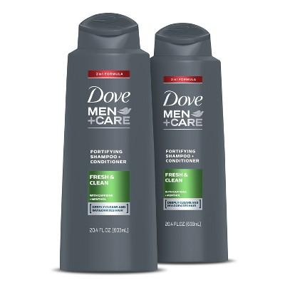 Dove Men+Care 2-in-1 Fresh Clean Shampoo and Conditioner - 2pk/20.4 fl oz