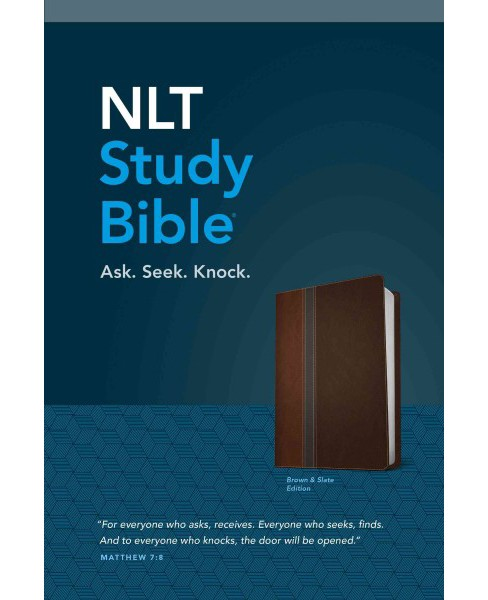 NLT study Bible : New Living Translation, Brown and Slate Edition, Leatherlike (Hardcover) - image 1 of 1