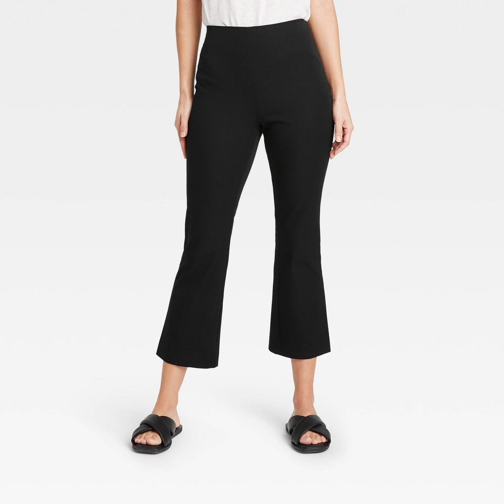 Women 39 S High Rise Flare Cropped Pants A New Day 8482 Black 6