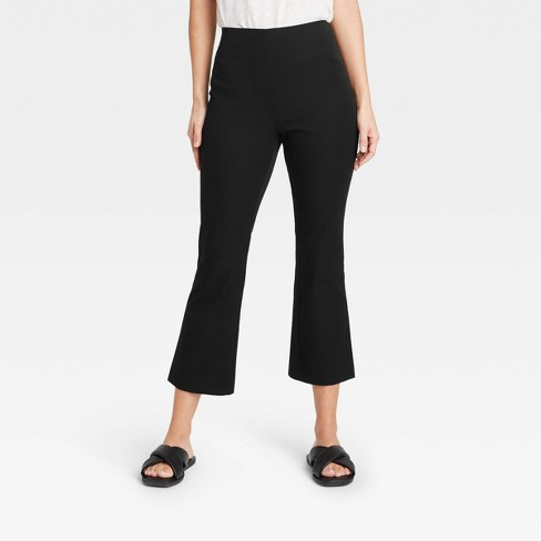 Women's High-Rise Flare Cropped Pants - A New Day™ - image 1 of 3