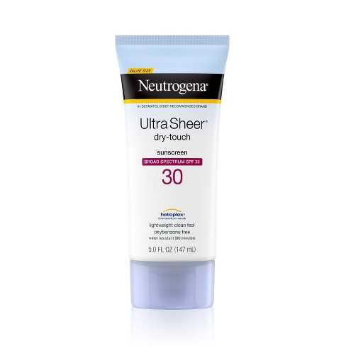 Neutrogena Ultra Sheer Dry-Touch Water Resistant Sunscreen Lotion - SPF 30 - 5 fl oz - image 1 of 4