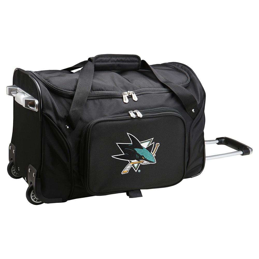 NHL Mojo San Jose Sharks 22 Rolling Duffel Bag - Black