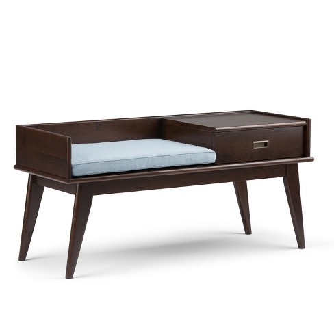 Tierney Solid Hardwood Mid Century Entryway Storage Bench  - Wyndenhall - image 1 of 4