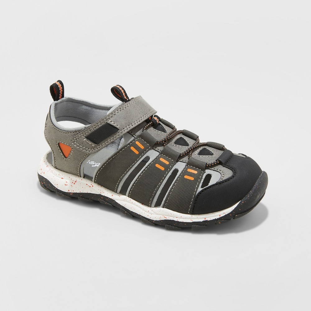 Image of Boys' Lowell Hiking Sandals - Cat & Jack Charcoal 13, Boy's, Grey