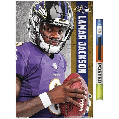 Trends International NFL Baltimore Ravens - Lamar Jackson 18 Unframed Wall Poster Prints