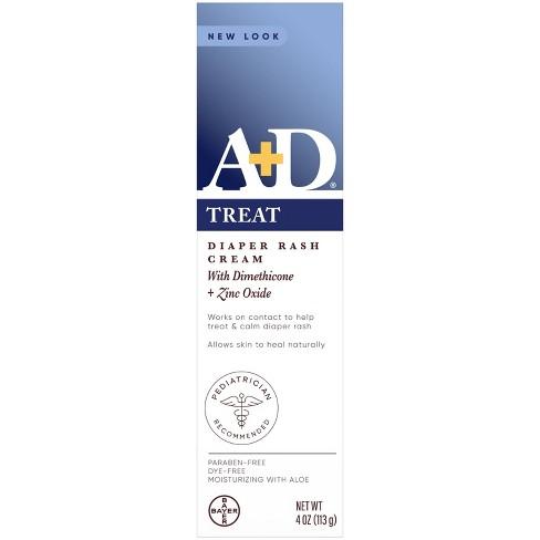 A+D Zinc Oxide Diaper Rash Cream - 4oz - image 1 of 4
