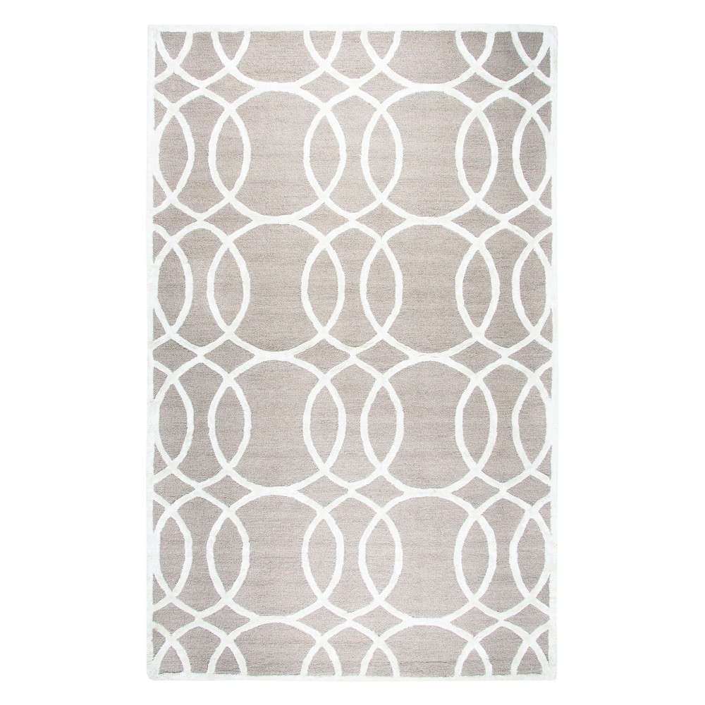 Image of Light Gray Geometric Rizzy Rug (8'x10') - Rizzy Home