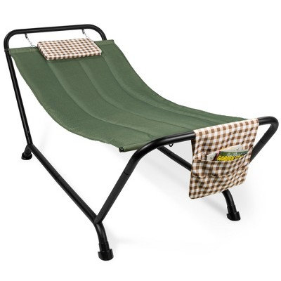 Best Choice Products Outdoor Patio Hammock Bed with Stand, Pillow, Storage Pockets, 500LB Weight Capacity