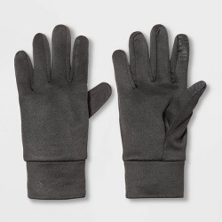 Men's Solid Tech Stretch Run Gloves with Easy Touch - C9 Champion® Black